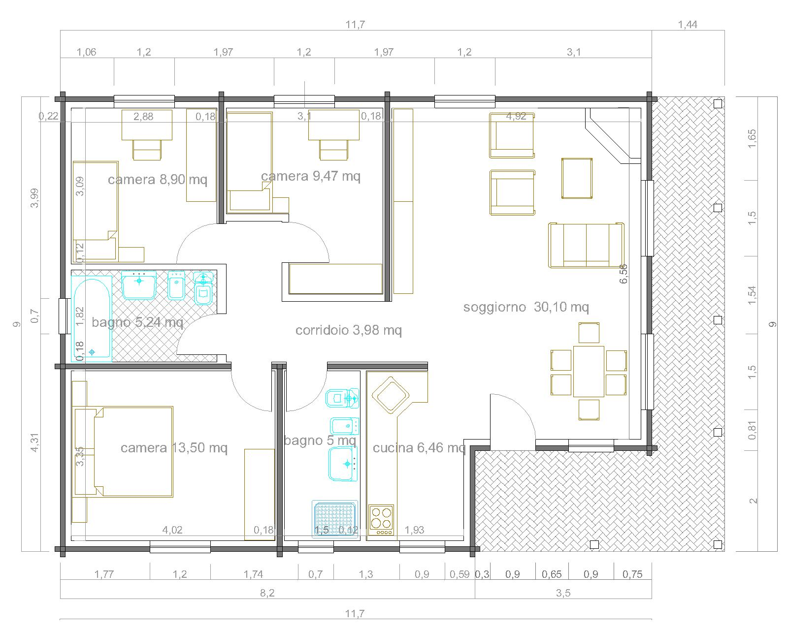 Progetto 50 mq come arredare una casa di mq ecco progetti for Progetti di piani casa fienile