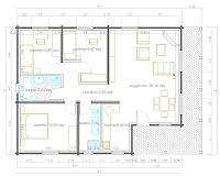 Progetti di case in legno casa 98 mq portico 20 mq - Progetto bagno 2 mq ...