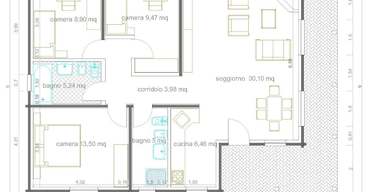 Progetti di case in legno casa 98 mq portico 20 mq for Progetti di portico anteriore