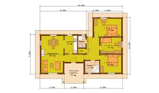 Progetti di case in legno doina 110 mq portico 10 mq for Case kit 4 camere da letto