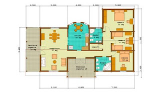 Progetti di case in legno casa 147 mq terrazza coperta for Grande casa con 3 camere da letto