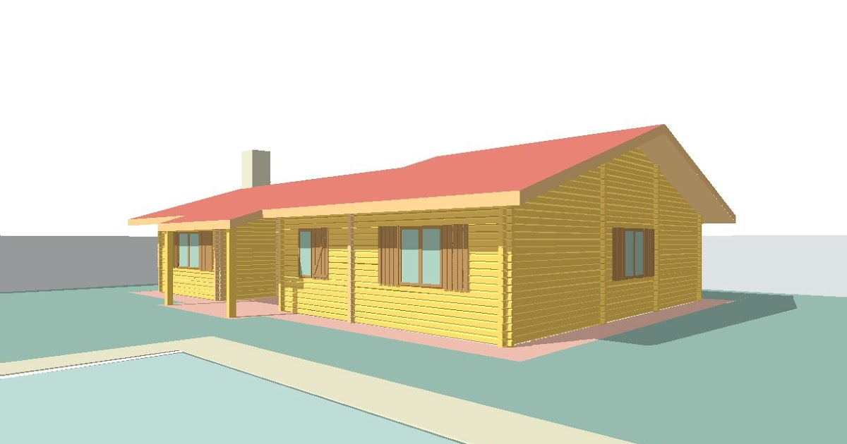 Progetti di case in legno doina 110 mq portico 10 mq for Progetti di portico anteriore