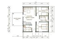 Progetti di case in legno casa 59 mq sottotetto for Progetti di piani portico proiettati