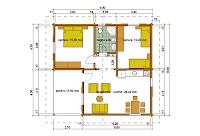 Progetti di case in legno casa 60 mq utili portico 12 mq for Progetti di case