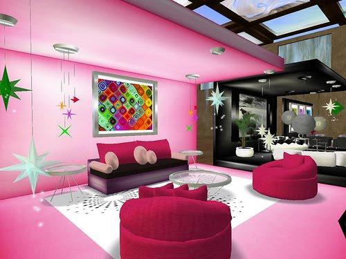 Pink Living Room Designs Idea