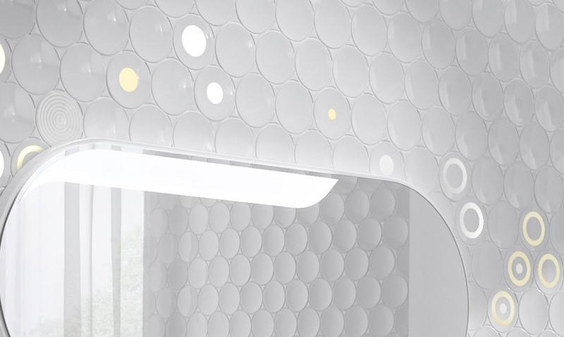 Futuristic Bathroom Wall   Cube U0026 Dot By ...