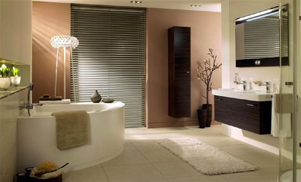 Bathroom design bathroom decorating ideas for Peach colored bathroom ideas