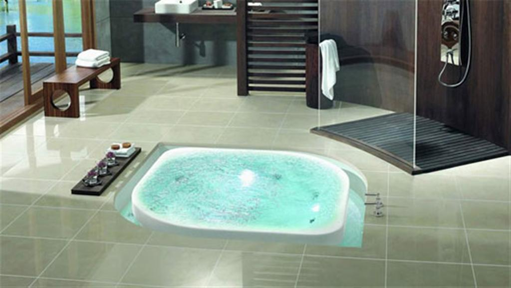 in Bathroom design: Modernand luxurious, Elegant Jacuzi and Bathtub ...