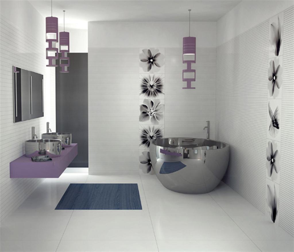 White Bathroom Collection Interior Design