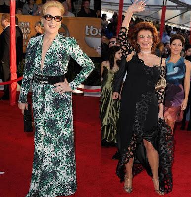 SAG Meryl Streep and Sophia Loren