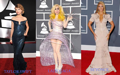 Grammy winner Beyonce, Taylor Swift and Lady Gaga