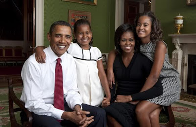 President Obama and Family Valentine