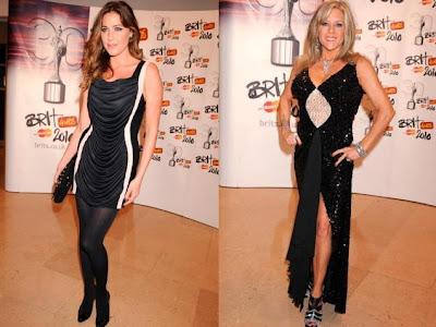 Pixie Lott and Samantha Fox Brit awards