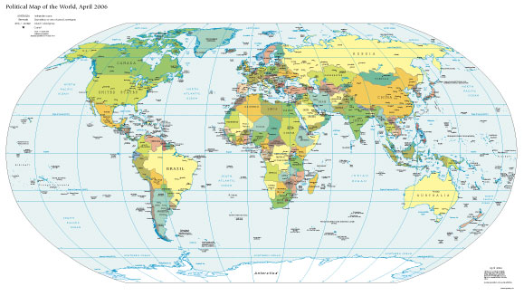 world map with countries and cities. world map with countries and