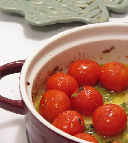 Roasted Cherry Tomato Clafoutis**