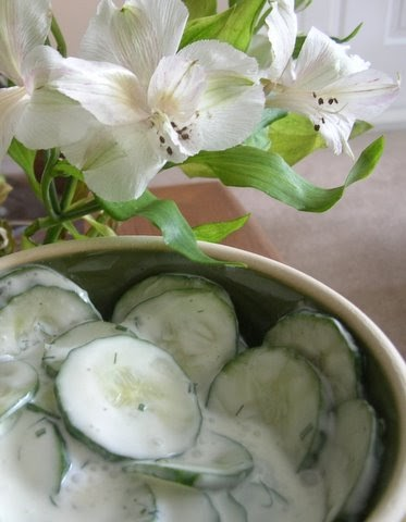 more than burnt toast: Russian Cucumbers in Sour Cream
