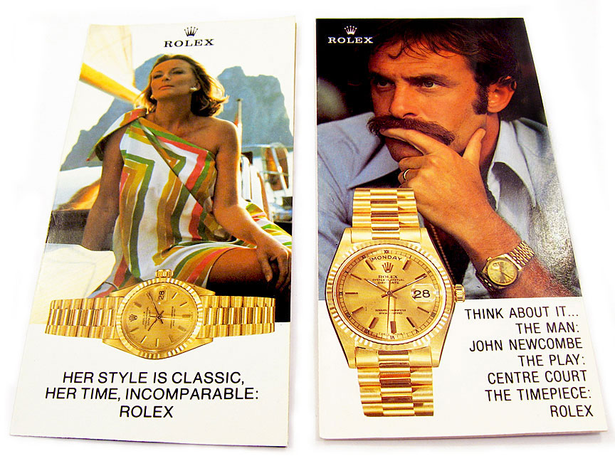 roger federer rolex ad. This next John Newcombe ad