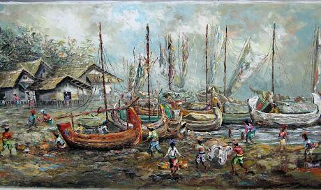 Lukisan Kampung Nelayan