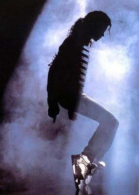 Michael Jackson wearing Michael Jordan's