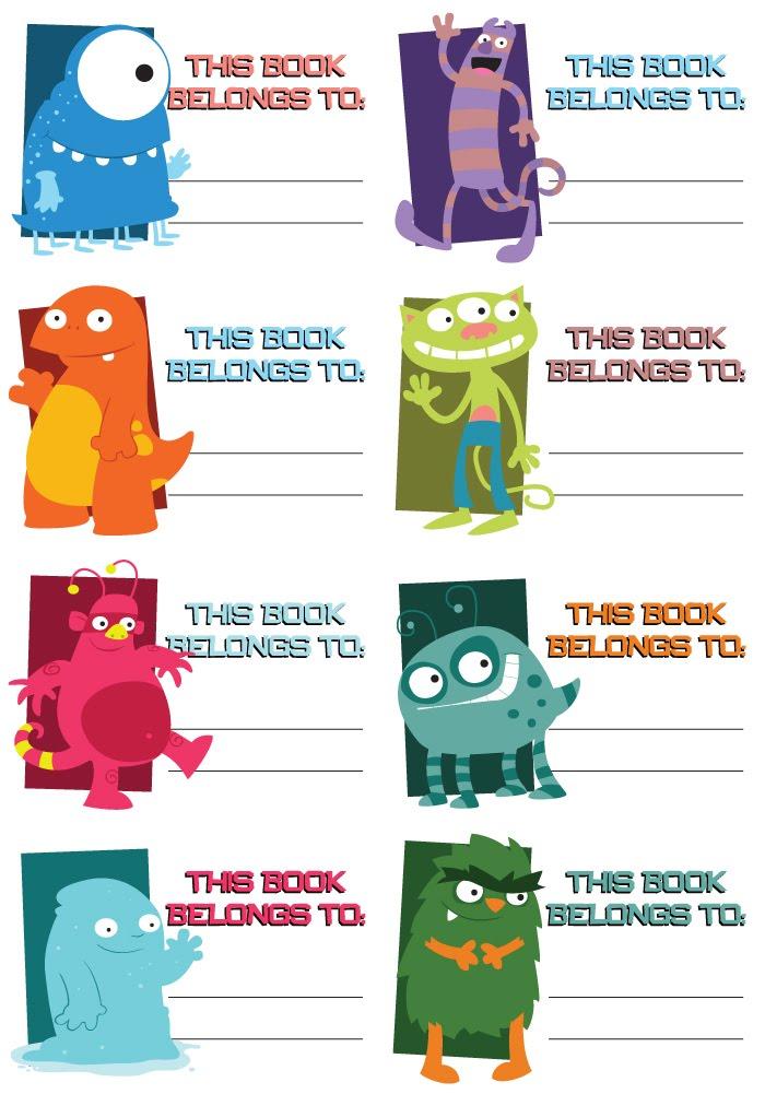Blah Blah Blah Creations: Book Labels