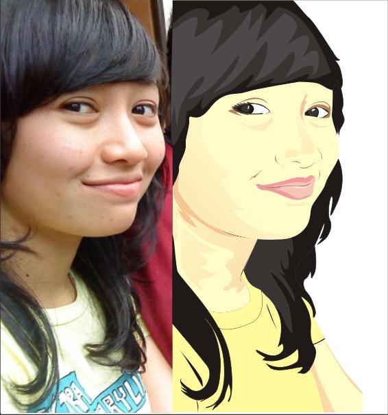 Jasa pembuatan kartun ato avatar wajah kalian nih ini contohnya