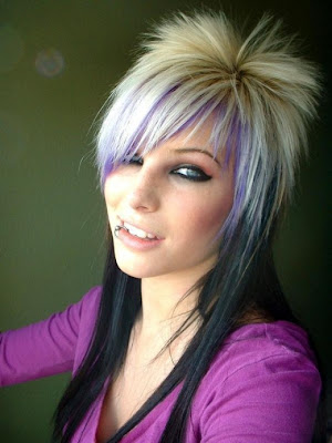 blond emo hairstyle. EMO hairstyles presents crazy