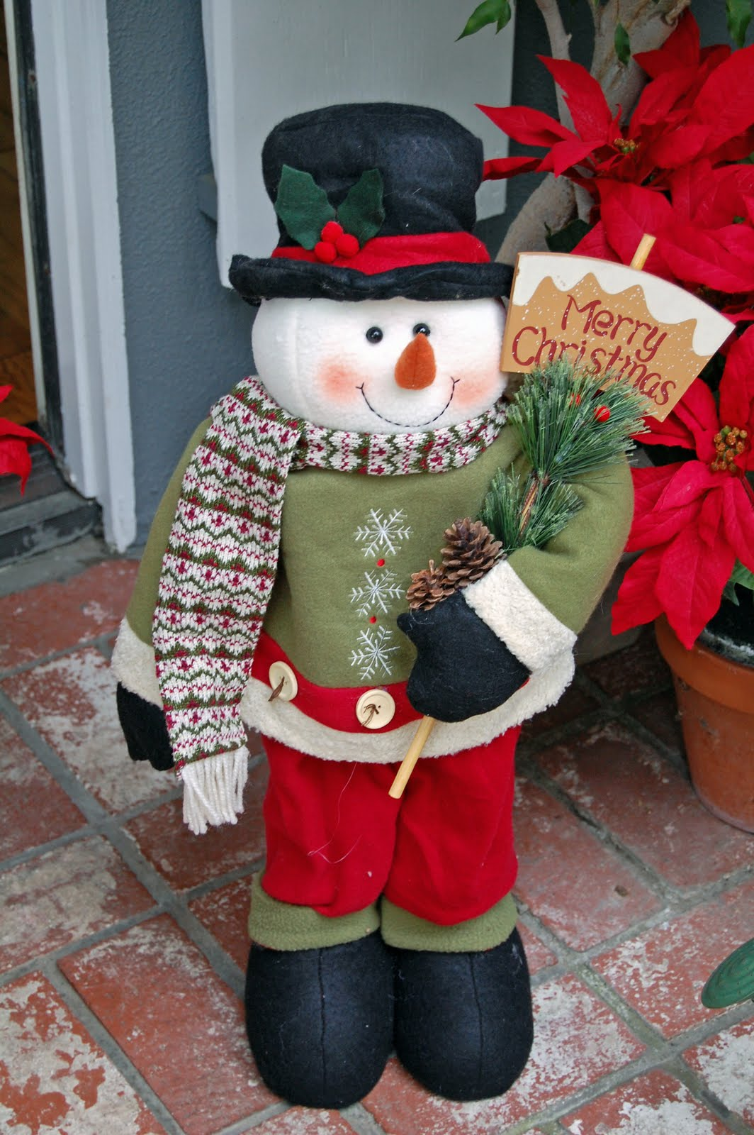 My painted garden let 39 s paint a snowman door greeter - How to get exterior paint out of clothes ...