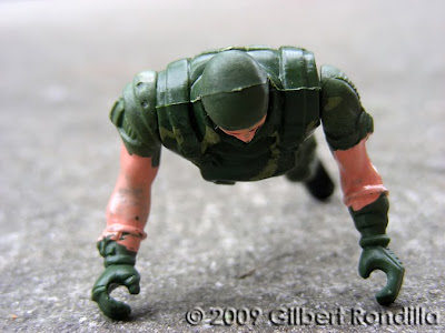 Amputated toy soldier