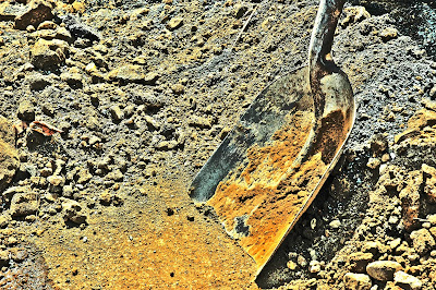 Photo of a shovel in a construction site, Philippines
