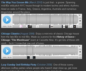Mixes, classic chicago house, George FM