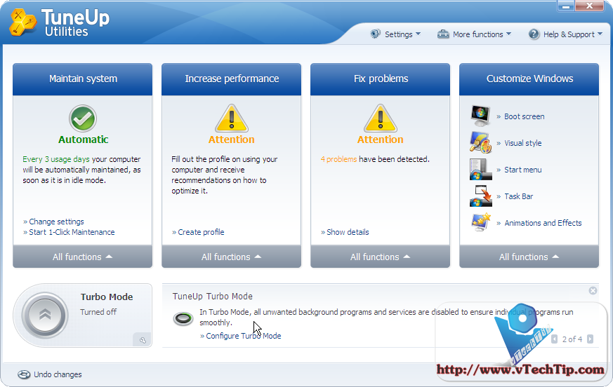 programas para el PC. TuneUp_Utilities_2010_main