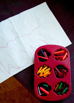 how to get crayon off of paper