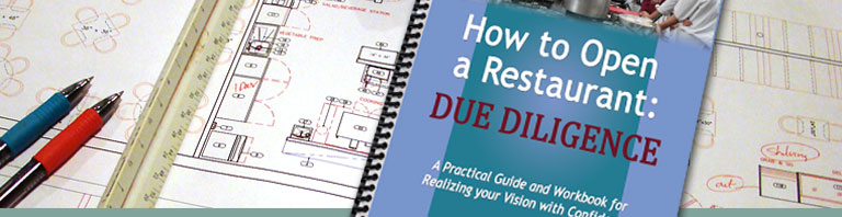 Book Available - How to Open a Restaurant: Due Diligence
