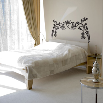C k ck interior designs painted headboards fun ideas for Painted headboard on wall
