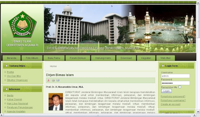 Re-launching website Bimas Islam Departemen Agama