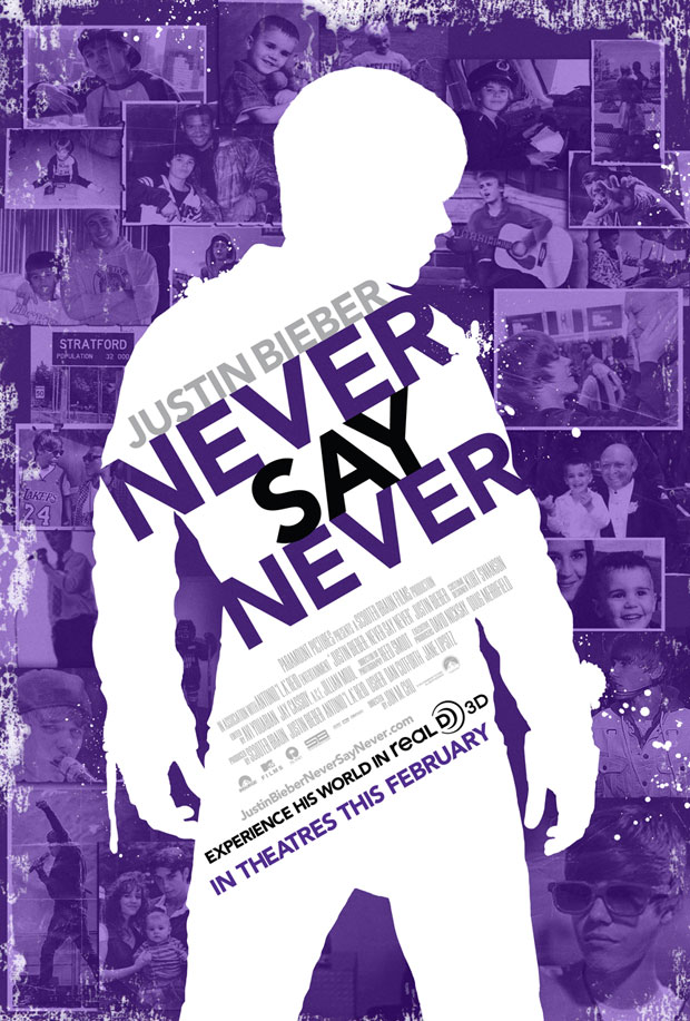 justin bieber never say never movie cover. justin bieber movie never say
