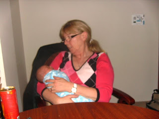 Newborn Baby and Grandmother