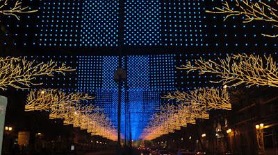 Iluminación en calle Alcalá