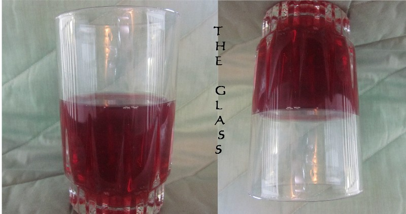 glass half full. seeing the glass half-full