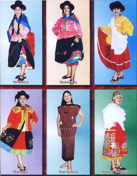 Vestidos: tipico region pacifica