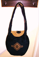 Georgeous Navy and Gold Handbag