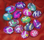 Wax dyed eggs!