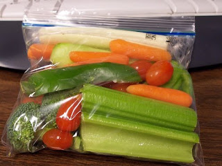 chopped vegetables and fruit make perfect healthy snacks