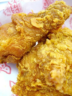 fried chicken full of saturated fats and oh so fattening