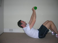 crunches using water bottle