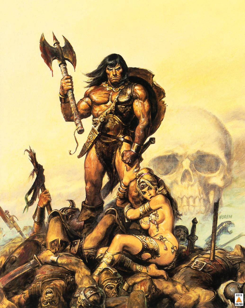 With conan the barbarian with women