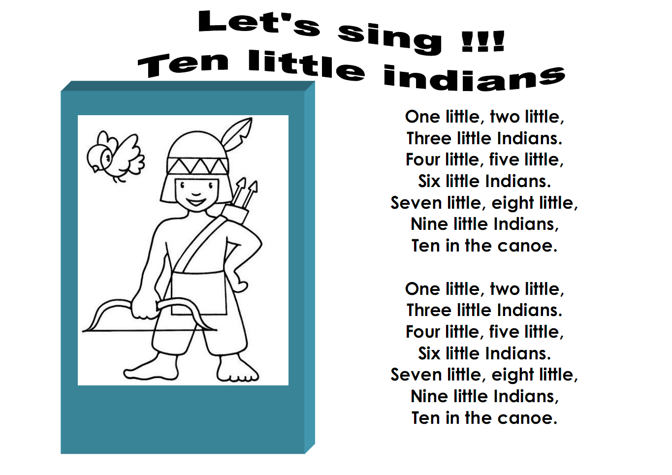 one two three little indians essay Ten little indians, by sherman alexie • dan schneider the last three tales is a vastly different writer by the same two to one score as in.