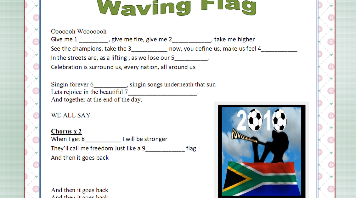 world cup waving flag
