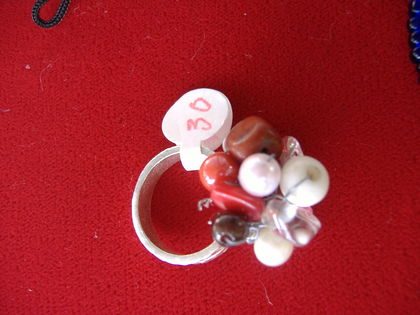 (my coral red '1st' chakra ring)