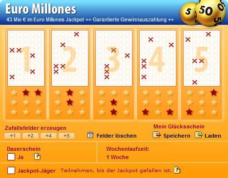 euro milliones ziehung